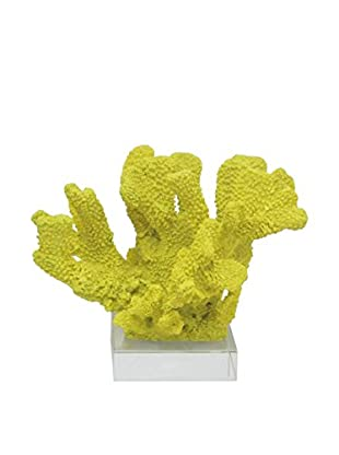 Three Hands Short Yellow Resin Coral Statue