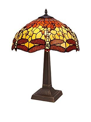 Especial Iluminación Lámpara De Mesa Belle Amber