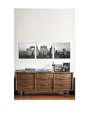 Stonehenge Panoramic Giclée Canvas Print Triptych