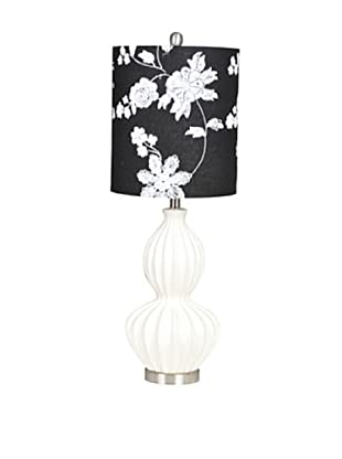 Greenwich Lighting Circa Cream Table Lamp, Cream/Black