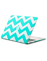"Kuzy Chevron Rubberized Hard Case for MacBook Air 13.3"" (A1466 & A1369) - [Teal]"