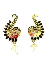 Gold Plated Drop Earringss for Workwear Use, With Kundan Theme and Designer Collection