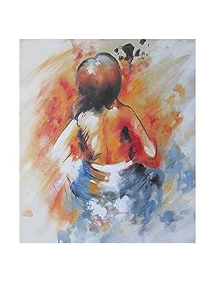 Legendarte Pintura al Óleo sobre Linezo Verso Contrario multicolor