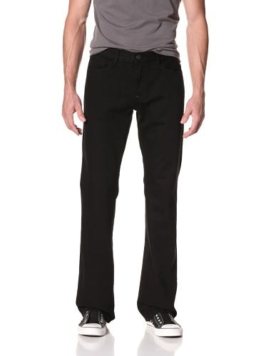 Earnest Sewn Men's Hutch 5 Pocket Bootcut Jean (Coal)