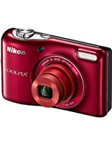 Nikon Coolpix L30 20.1 MP Point & Shoot Camera (Red)