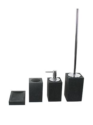 Gedy by Nameeks Oleandro Bathroom Accessory Set, Black