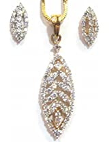 Shingar Jewellery Ksvk Jewels American Diamond Pendant Set For Women (8585-psad)