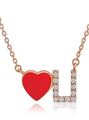 Divas Diamond Collar Love U Gemstone Dorado