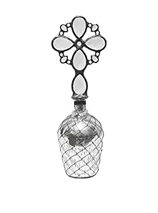 Theresa Seidel Celtic Style Mercury Glass Accent, Clear/Black