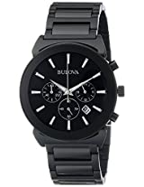 Bulova Classic Analog Black Dial Men's Watch - 98B215