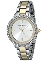 "Anne Klein Women's ""AK/1625SVTT"" Swarovski Crystal Accented Two-Tone Bracelet Watch"