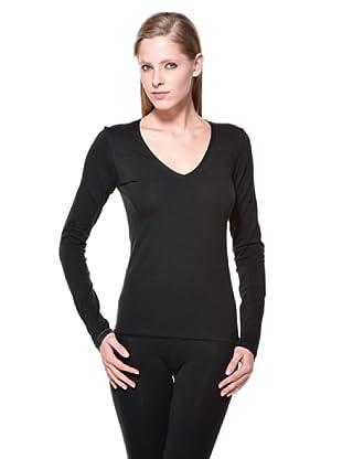 Cotonella Camiseta Cuello V (negro)