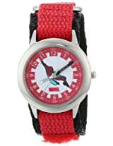 Marvel Comics Kids' W000112 Spider-Man Stainless Steel Time Teacher Watch