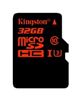Kingston Digital 32GB microSDHC UHS-I Speed Class 3 U3 90R/80W Flash Memory Card with Adapter (SDCA3/32GB)