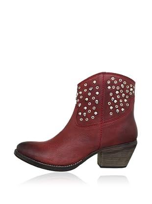 Buffalo London 1012-01 NOVA 142063 - Botines de cowboy de cuero  mujer (Rojo)