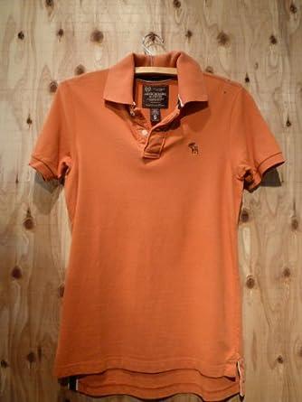Abercrombie&Fitch アバクロ メンズ ポロシャツ/ オレンジ S【正規品】
