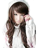 Cool2day Sexy 25 curly long DARK BROWN promition lady wave wig party wigs jf010246