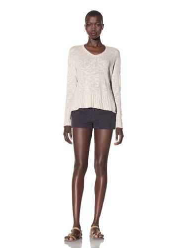 Acrobat Women's Straight Hem High-Low Sweater (Cement)