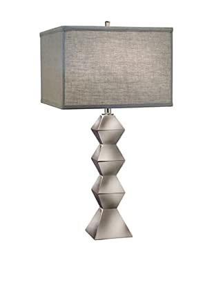 Stiffel Lighting Polished Nickel Stacked Table Lamp