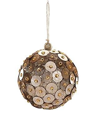 Capiz Disk Ball Ornament, Large