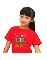 Kids t shirt, Giftsmate Cutest Little Sister Kids Girl 100% Cotton T-shirt for Sister