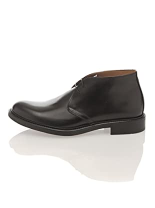 British Passport Zapatos Cordón Abotinados (Negro)
