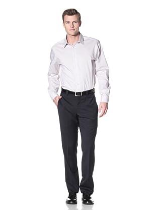 Incotex Ivory Men's Gabardine Trousers (Navy)