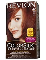 Click to open expanded view ColorSilk Beautiful Color #42 Medium Auburn by Revlon for Unisex - 1 Application Hair Color