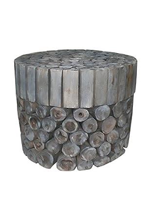 Jeffan Coffee Table Round Block, Grey