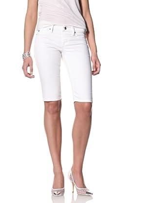 SOLD Denim Women's Knee Shorts (White)