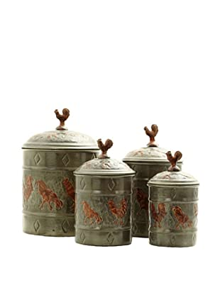 Old Dutch International 4-Piece Rooster Canister Set