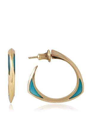 Katie Rowland Blue Pop Lilith Enamel Tri-2 Window Earrings