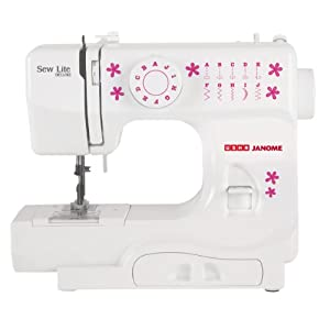 Usha Janome Sew Lite Deluxe Automatic Zig-Zag Sewing Machine (White and Pink)