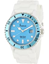 Freelook Men's HA1433-6H Sea Diver Jelly White Silicone Band with Blue Dial Watch