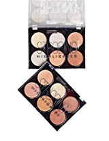 Brand Strobing 6 Colors Highlighter Collection Palette Makeup 379 (One Size, Both)