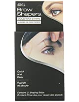 Ardell Brow Shapers Cold Wax Strips, 21 Count