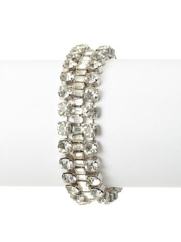 Lulu Frost 1920's Art Deco Triple Strand Bracelet, Silver