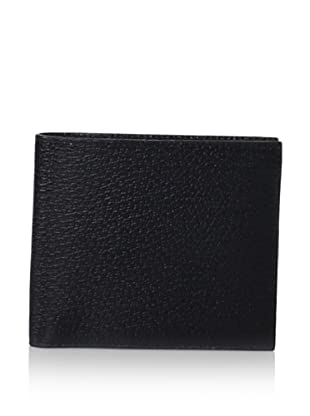 Leone Braconi Men's Bi-Fold Wallet, Black, One Size