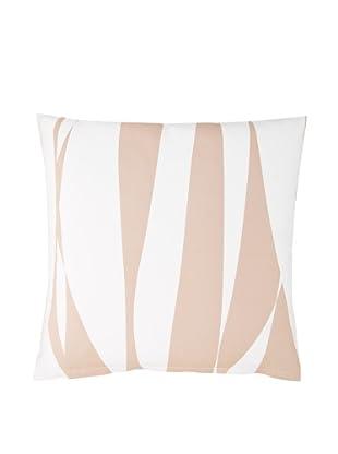 Twinkle Living Ribbon Pillow Cover (Mocha/White)
