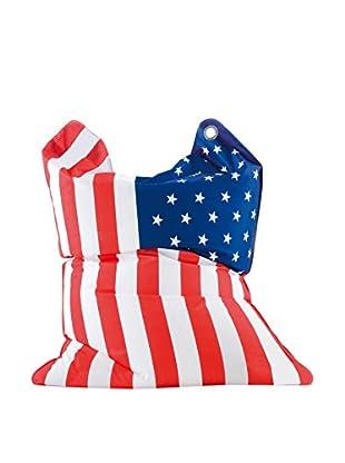 Sitting Bull Puff Grande Fashion Bull Stars & Stripes Rojo/Blanco/Azul