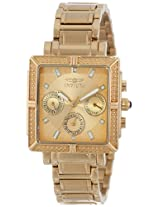 Invicta Women's 14871 Wildflower Gold Dial 18k Gold Ion-Plated Stainless Steel Watch