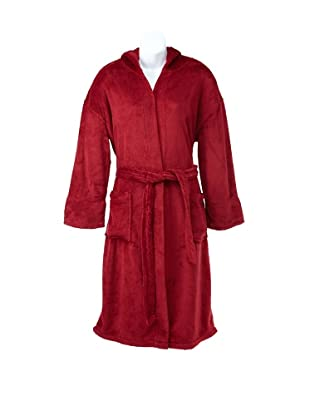 Peacock Alley Serenity Hooded Robe (Red)