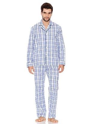 Kiff-Kiff Pijama Largo Tela Hombre azul 7-2XL