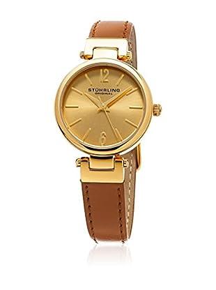 Stuhrling Original Uhr mit japanischem Quarzuhrwerk Woman 975.03 Classique 956 hellbraun