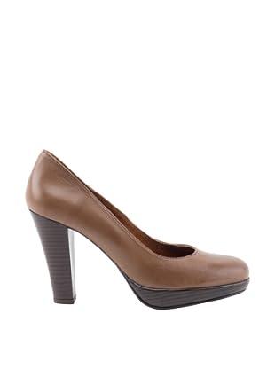 Liberitae Zapatos tacón Plataforma (Marrón)