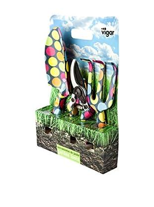 VIGAR Herramientas Jardín 3 Piezas Candy Multicolor