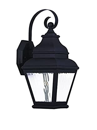 Crestwood Emery 1-Light Wall Lantern, Black