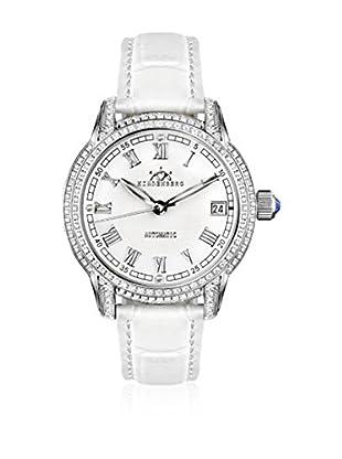 Hindenberg Reloj automático Woman Hindenberg 200-H Duchess Stahl Weiss Cuero / Blanco / Plata 34 mm