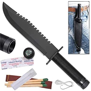 Black Rambo First Blood Survival Knife