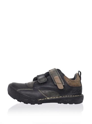 Kickers Kid's Rambo Sneaker (Toddler/Little Kid) (Black/Beige)